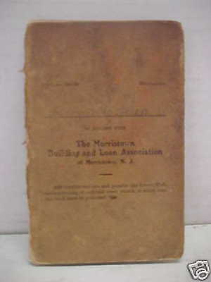 1886 Constituion The Morristown Building & Loan Booklet