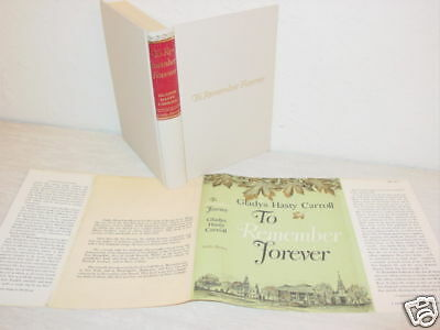 Vintage,Book,To Remember Forever,Carroll,Journal,Diary