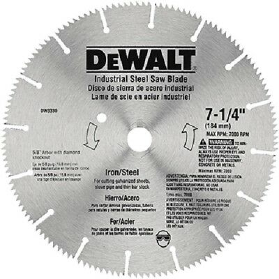 "DEWALT DW3330 7-1/4"", Steel & Iron Cutting Saw Blade"