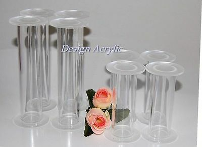 "Set Of 8 Chunky Acrylic Wedding Cake Pillars 4"" & 6"""