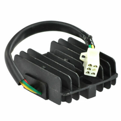 VOLTAGE REGULATOR/ RECTIFIER 12V 4 PIN 50-150cc GY6 4STROKE SCOOTER on 1965 impala wiring diagram, 68 chevy horn wiring diagram, universal ignition switch wiring diagram, chevy 3 wire alternator diagram, ford 302 distributor wiring diagram, ford 1g alternator wiring diagram, 70 nova wiring diagram, 1970 heater switch diagram, gm 2wire voltage reg diagram, mopar alternator wiring diagram,