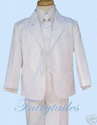 Wholesale Lot Of 6 White Toddler Boys Dress Suits