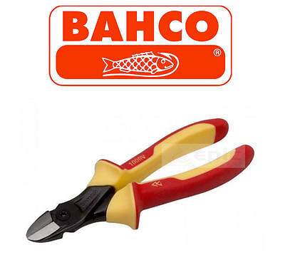 "BAHCO ERGO 140mm 5-1/2"" VDE Insulated Wire Side Cutter/Cutting Plier, 2101S140"