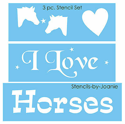 Joanie Country Prim STENCIL Horse Crazy Cowboy Western Pony Lover Signs U paint