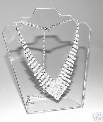 3 Pack Stylish  Clear  Acrylic Jewellery Bust