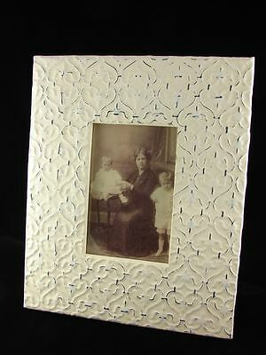 New Victorian Shabby Tin Fleur Chic Picture Photo Frame Antique Style Pattern