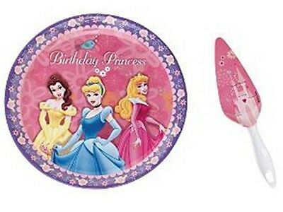 NEW ~ DISNEY ~ PRINCESS 2-Pc Set BIRTHDAY CAKE PLATE + SERVER ~ Princesses