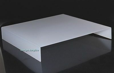 """12"""" Acrylic Frosted Matt White Photo Table Riser"""