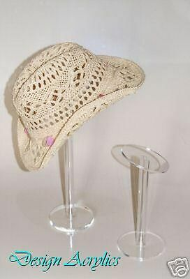 Clear Acrylic Hat Stands Display Ladies / Gents /Childs