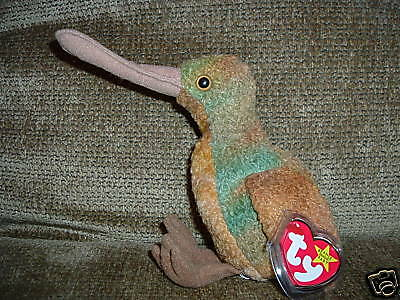 TY Beanie Baby Bird named Beak 1998 Retired WT