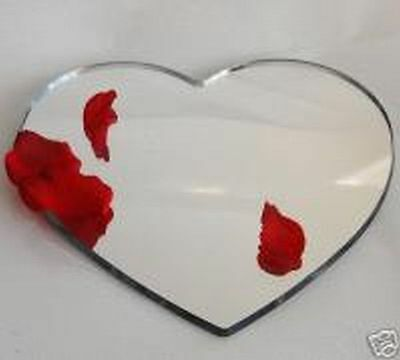 "14 "" Mirror Heart Acrylic Cake Plate  Stand Wedding"