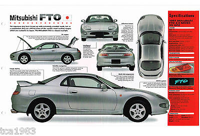 MITSUBISHI FTO SPEC SHEET/Brochure/Catalog:1997,1996,..