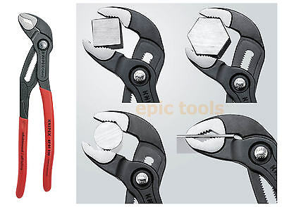 "KNIPEX 87-01-250 COBRA 250mm (10"") Push-Button Waterpump Pliers Grips, 46mm Max"