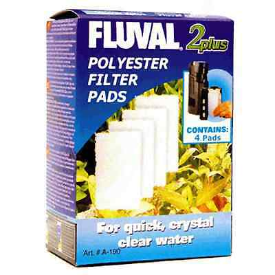 Fluval 2+ Plus Polyester Filter Pad Pack of 4 Genuine Replacement Pads
