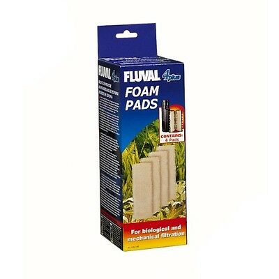 Fluval 4 + Plus Foam Pad Pack of 4 Filter Sponges Genuine Product