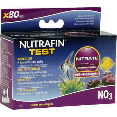 Nutrafin Nitrate Test Kit Fresh Salt Water NO3 Fish Aquarium Kit