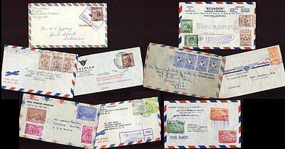 VENEZUELA 1950s AIRMAIL FRANKINGS...9 COVERS