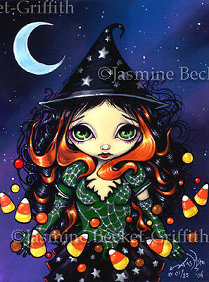 Little Candy Witch gothic Halloween art Jasmine Becket-Griffith CANVAS PRINT