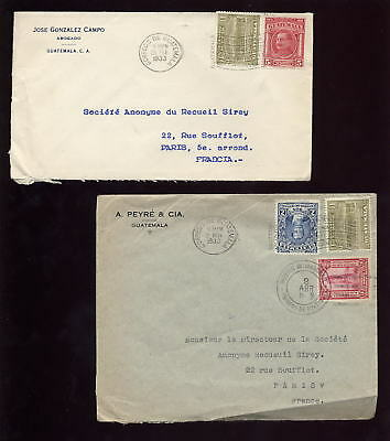 GUATEMALA 1933 PRINTED to FRANCE..2 Covers