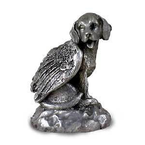 PEWTER Angel BEAGLE Dog Ornament Figurine Statue NEW