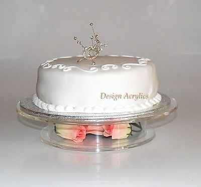 """Clear Acrylic Stacked Pedestal Wedding Cake Stand 9.5"""""""