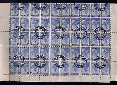 LIBERIA 1928 AFRICA MAP 5c...SHEET of 100 stamps