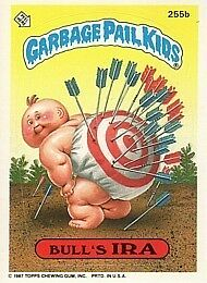 GARBAGE PAIL KIDS 7th SERIES 7 255b BULL'S IRA bullseye