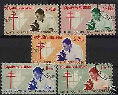 Burundi 1965 Anti T.B. Campaign Lorraine Cross Used Set