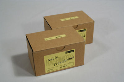 A pair of Interstage Transformers Hashimoto A-107 for 6SN7 12AU7 ECC82