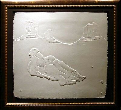 R.C.Gorman Crescent Moon /paper cast Hand Signed Original Art LE MAKE OFFER