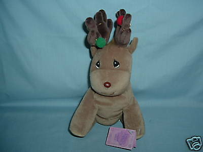 Precious Moments Tender Tails Plush Christmas Reindeer