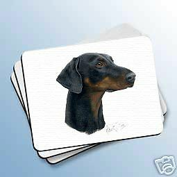 DOBERMAN Uncropped Dog Computer MOUSE PAD May Mousepad