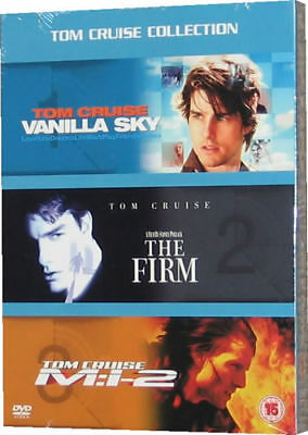 Tom Cruise DVD Box Set 3 Films Vanilla Sky, The Firm, Mission Impossible 2 - New