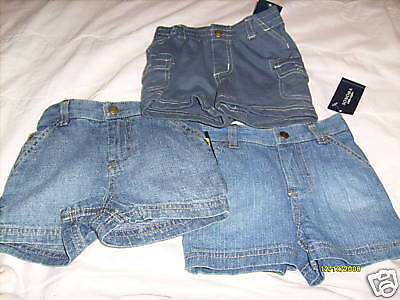 Nwt New Boys Lot Of 3 Jean Shorts Sz 3/6M