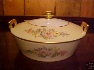 """Meito China Pattern  Rd Covered Cheese Dish 5 5/8"""""""