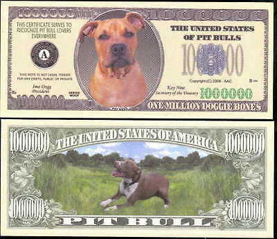 PIT BULL DOG MILLION DOLLAR BILL LOT OF 25 BILLS