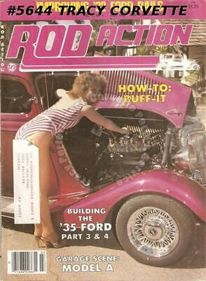 July 1982 Rod Action 1932 Ford Sedan 1946 Ford Conv 23 Ford T-Bucket 34 Plymouth