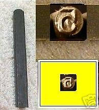 """Number """"5"""" steel jewelry stamp 7mm tall square 1/4 Inch"""