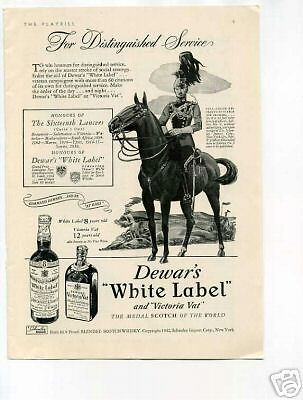 Dewar's White Label Victoria Vat Scotch 1942 Origina Ad