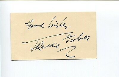 Freddie Forbes Early British Actor Murder at the Cabaret Signed Autograph