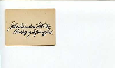 John Chanler White Episcopal Bishop of Springfield Clergy Signed Autograph
