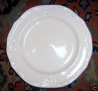 Pier 1 Embossed Cream Scroll Salad Plate Italy