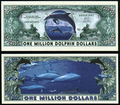DOLPHIN MILLION DOLLAR DOLPHINS - Lot of 10 BILLS