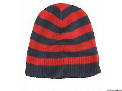 3ad4227be8a55 AEROPOSTALE Rugby Striped Knit Hat   Beanie NWT RED