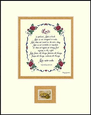 ST002-1st CORINTHIANS with 2001 LOVE STAMP