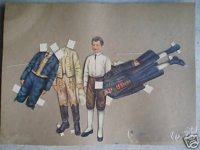 RARE Vintage Paper Dolls Young Boy LOOK