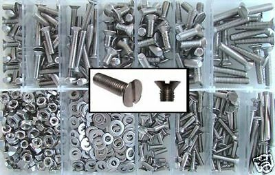 M4,M5,M6 Stainless Slotted Countersunk Machine Screws 4mm,5mm,6mm -Mixed Box