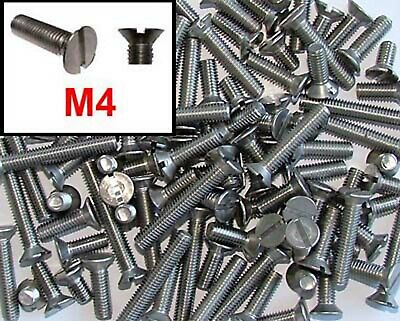 M4 Stainless Machine Screws 4mm Stainless Slotted Countersunk x100 mixed lengths