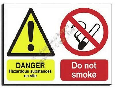 Hazardous Substance - Do Not Smoke - Semi Rigid -400x300mm(MU-001-RM)