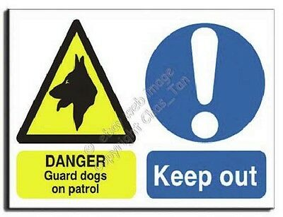 Comp. Guard Dog - Keep Out - Adhesive Vinyl -400x300mm(MU-004-AM)